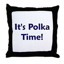 It's Polka time! Throw Pillow