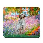 Garden / English Setter Mousepad