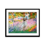 Garden / English Setter Framed Panel Print