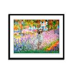 Garden / English Setter Framed Panel Print