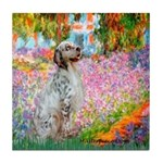 Garden / English Setter Tile Coaster