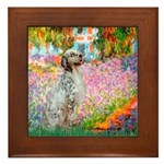 Garden / English Setter Framed Tile