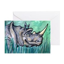 Unique Rhinoceros Greeting Card