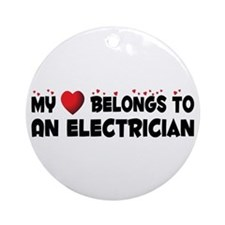 Belongs To An Electrician Ornament (Round)