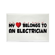 Belongs To An Electrician Rectangle Magnet (10 pac