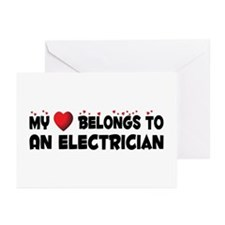 Belongs To An Electrician Greeting Cards (Pk of 10