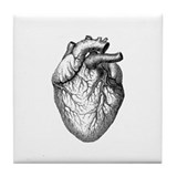 Vintage Heart Tile Coaster