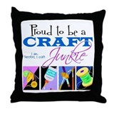 Craft Junkie Throw Pillow