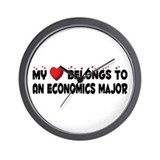 Belongs To An Economics Major Wall Clock