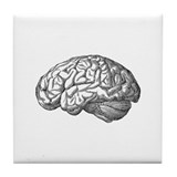 Vintage Brain Tile Coaster