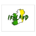 Irish Colors on Irish Map Small Poster