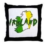 Irish Colors on Irish Map Throw Pillow