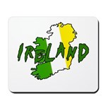 Irish Colors on Irish Map Mousepad