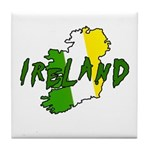 Irish Colors on Irish Map Tile Coaster