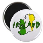 Irish Colors on Irish Map Magnet