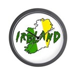 Irish Colors on Irish Map Wall Clock