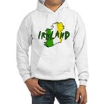 Irish Colors on Irish Map Hooded Sweatshirt