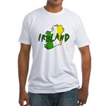 Irish Colors on Irish Map Fitted T-Shirt