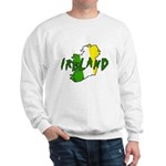 Irish Colors on Irish Map Sweatshirt