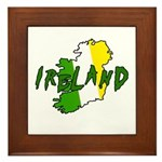 Irish Colors on Irish Map Framed Tile