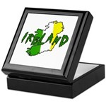 Irish Colors on Irish Map Keepsake Box