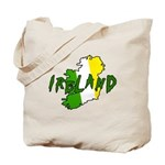 Irish Colors on Irish Map Tote Bag