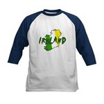 Irish Colors on Irish Map Kids Baseball Jersey