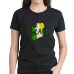 Irish Colors on Irish Map Women's Dark T-Shirt