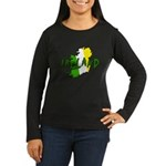 Irish Colors on Irish Map Women's Long Sleeve Dark