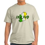 Irish Colors on Irish Map Light T-Shirt