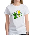 Irish Colors on Irish Map Women's T-Shirt