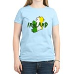 Irish Colors on Irish Map Women's Light T-Shirt