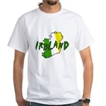 Irish Colors on Irish Map White T-Shirt