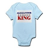 ALEXZANDER for king Onesie