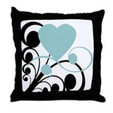 Heart Matters Teal Throw Pillow