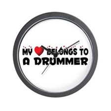 Belongs To A Drummer Wall Clock