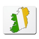 Tricolor Map of Ireland Mousepad
