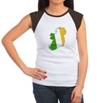 Tricolor Map of Ireland Women's Cap Sleeve T-Shirt