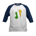 Tricolor Map of Ireland Kids Baseball Jersey