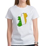 Tricolor Map of Ireland Women's T-Shirt