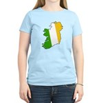 Tricolor Map of Ireland Women's Light T-Shirt