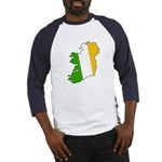 Tricolor Map of Ireland Baseball Jersey