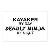 Kayaker Deadly Ninja Postcards (Package of 8)