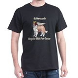 Saint Bernards Angels With Fur Coats T-Shirt