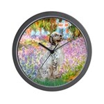 Garden / English Setter Wall Clock