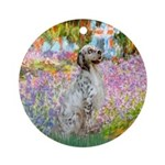 Garden / English Setter Ornament (Round)