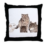 Wolf tarot tarot Throw Pillow