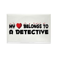 Belongs To A Detective Rectangle Magnet (100 pack)