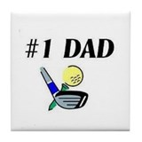 #1 Dad... Tile Coaster