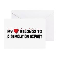 Belongs To A Demolition Expert Greeting Cards (Pk